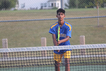 Junior Suragh Shrianandh practices for upcoming match against North Central
