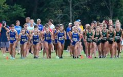 Klavon and women's cross country team, runs a meet against Westfield in the beginning of season. Coach Marshall has high hopes for the upcoming season and what the girls can do this year.