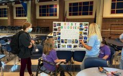 Best Buddies held their callout meeting on Sept. 2 in the freshman cafeteria. They discussed different events occurring this year and gave new members information about the club. (Photo by Riley Laferriere)