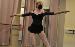 Junior Sophia Warhurst practices ballet at the indoor studio for the Ballet Theater of Carmel. Warhurst said she performs mostly in the classical ballet style.