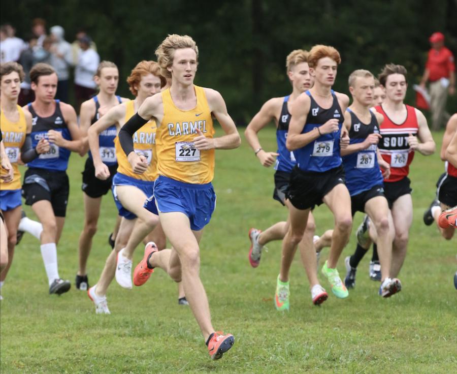 Kole Mathison, junior and varsity cross-country runner, breaks school 5K record